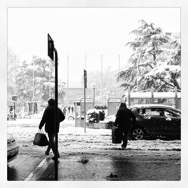 Snow in Trento