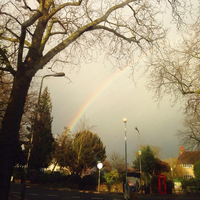 Raimbow in Hampstead garden suburb #VSCOcam