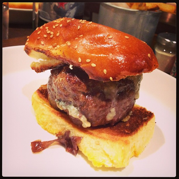 Awesome burger @Jbastianich @Orsone_RistoBB - fries could have been crispier. We'll be back :)