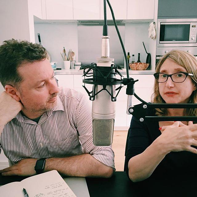 Recording episode 05 in my kitchen/podcasting studio